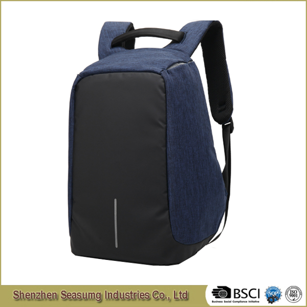 New Design Waterproof Business Travelling Anti Theft Laptop Ipad Backpack with USB Connection
