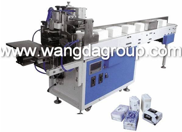 Soft Face Tissue/Napkin Paper Bagging and Sealing Machine with Convey Belt WD-822D-A