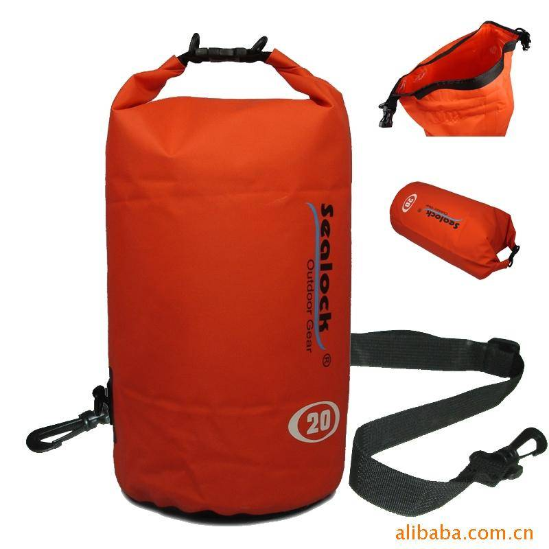 500d PVC Tarpaulin Half White and Half Black Inflatable Waterproof Dry Bag for Boating