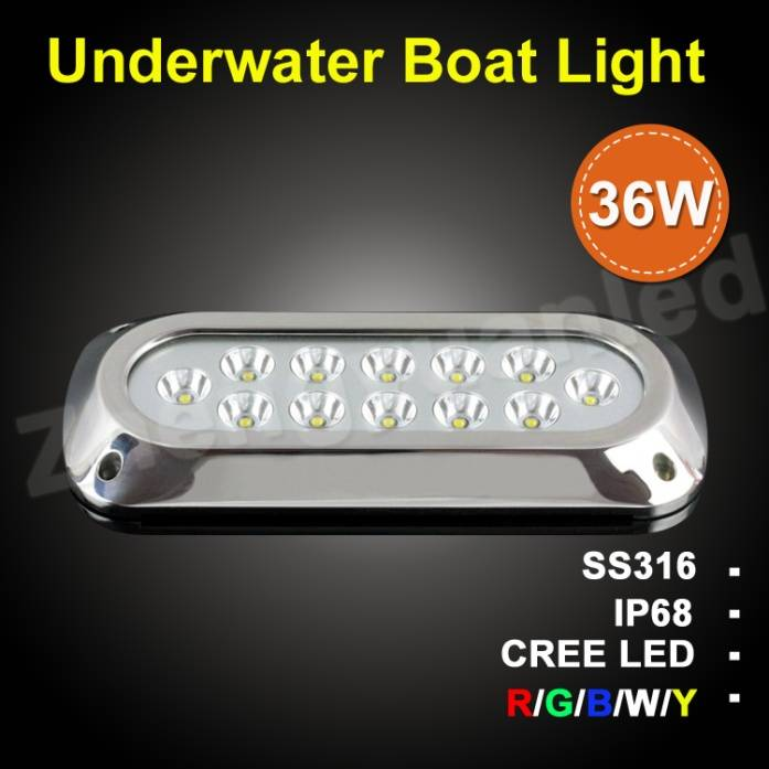 36w super bright led underwater light with CE&RoHS approval