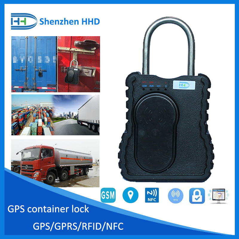 GPS container lock of cargo transportation solution, capable of trace ability with GPS or SMS