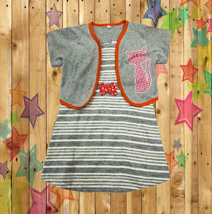 Kids baby girls children cltohes  dress Knit Cotton Garment