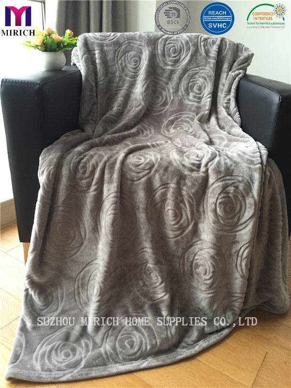 Designer Polyester Super Warm Sherpa Blanket /Throw