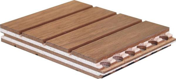 Wooden soundproofing panel
