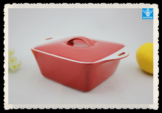 High quality Ceramic Soup Pot with lid WM-XW-020