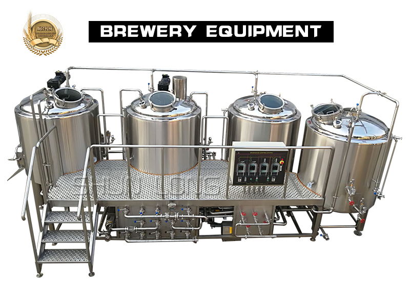 500l 4-vessel beer brewing equipment with CE standard
