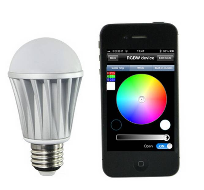 smart phone bluetooth led bulb control with Android or ISO 3W 5W 7W 9W 12W led bulb bluetooth