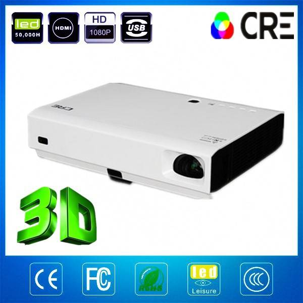 New Technology CRE X2500full HD led laser 1280*800p 3D projector