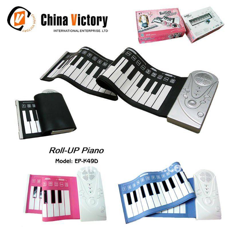 silicone roll up piano