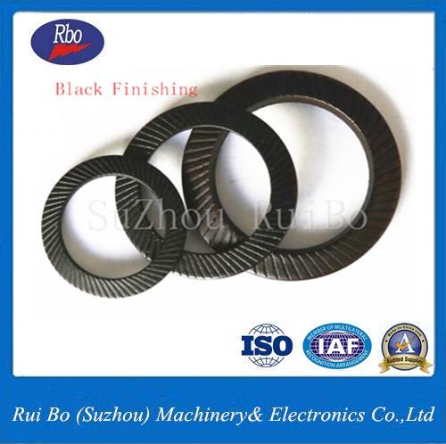 Black Finishing DIN9250 Double side knurl lock washer