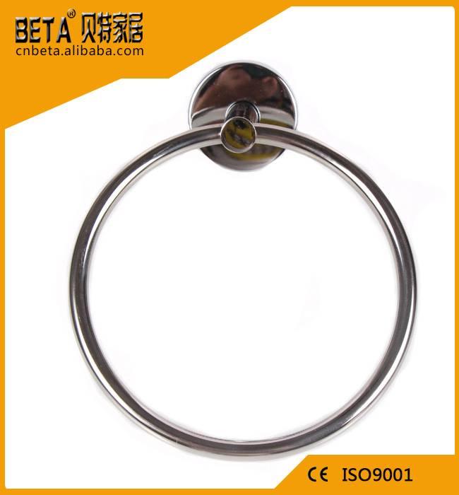 OEM ODM custom stainless steel hotel bathroom towel ring
