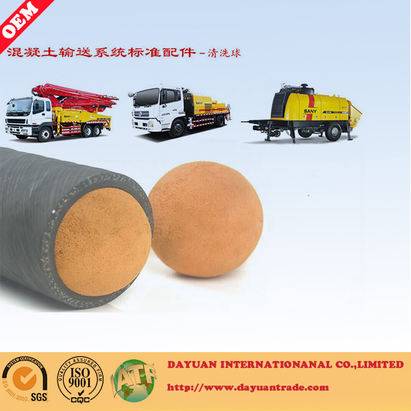 Dn300 Medium Soft Concrete Pump Cleaning Ball Sponge Rubber Ball