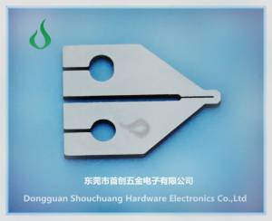 Hot pressure flat cable welding heads