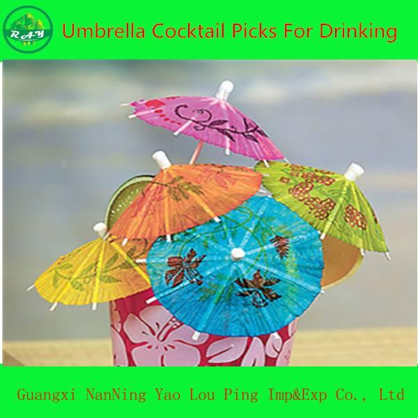 Cocktail Food & Drink Umbrella Party Picks, Umbrella Toothpick
