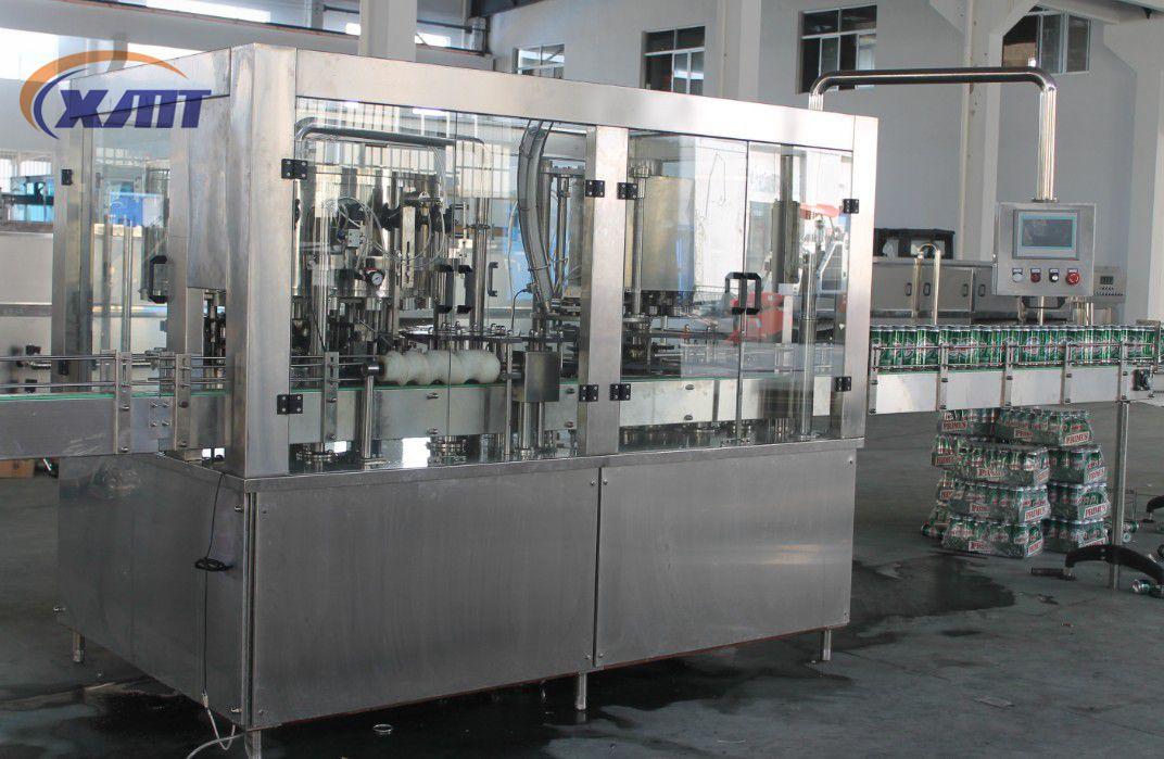 Automatic aluminum can juice filling machine