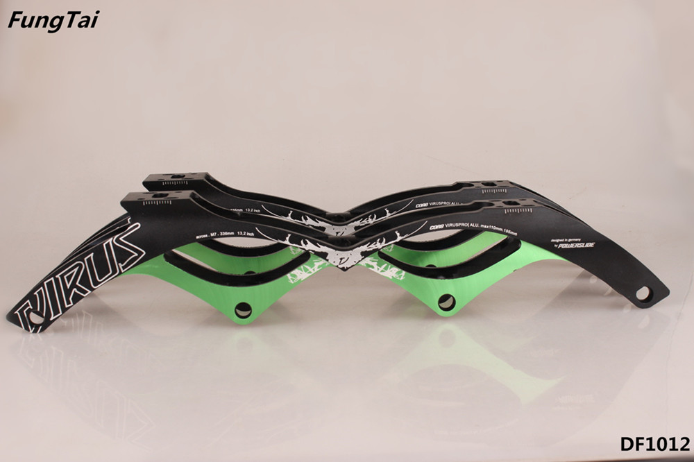 Roller Inline Skate Metal Frame with Four 110mm Wheels Speed Shoes (DF1012)