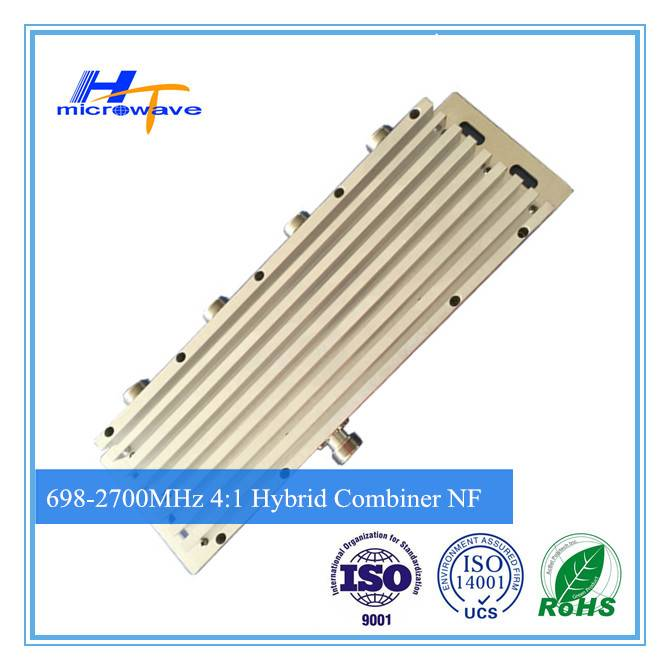 high quality cheap 700-2700MHz RF reactive power (4:1 ) 4 in 1 out Hybrid Combiner n/f connector