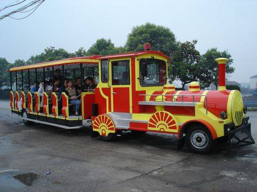 Tourist Diesel Locomotive Trackless Road Train