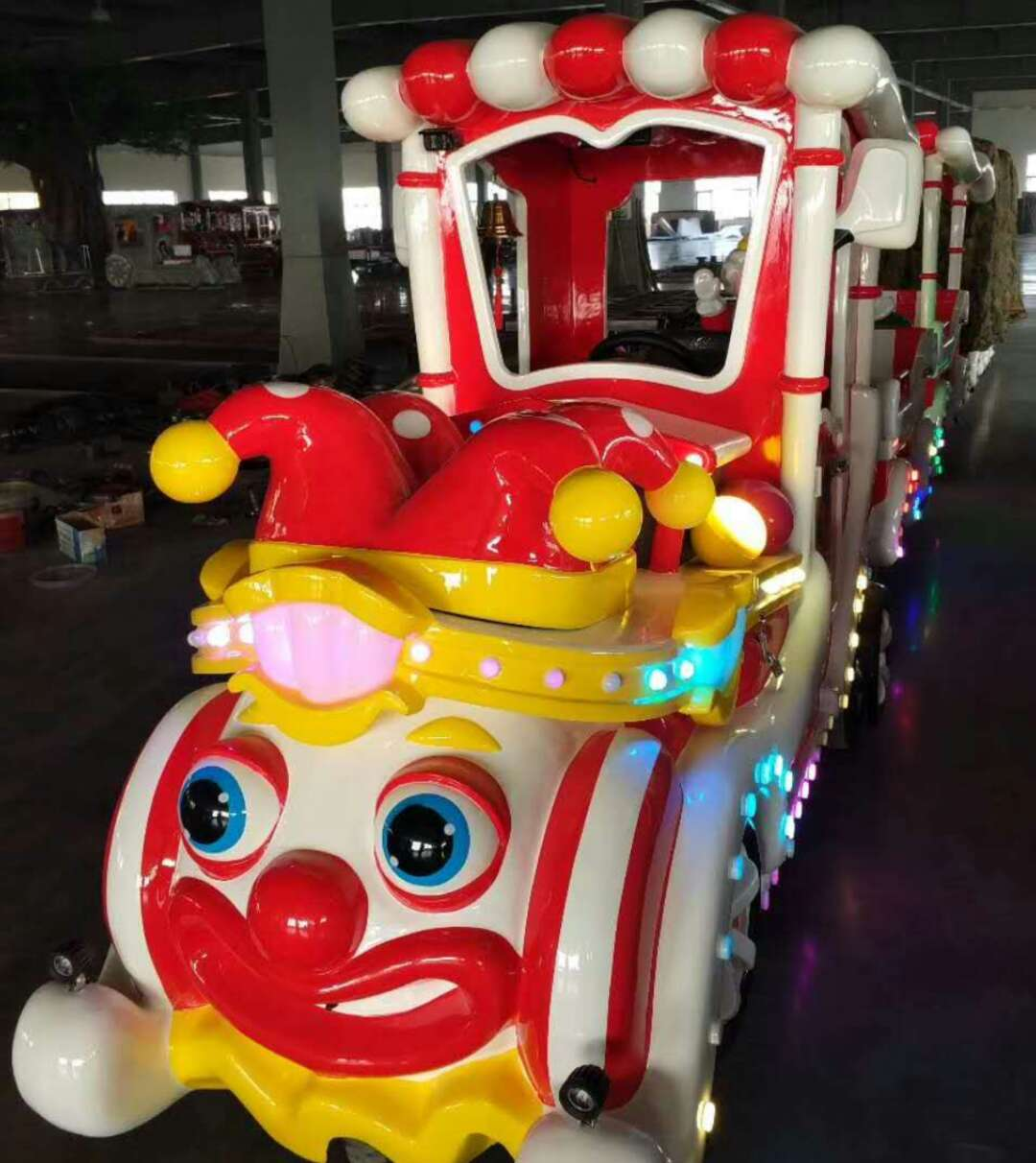 Cartoon trackless train for sale shopping mall kiddie rides