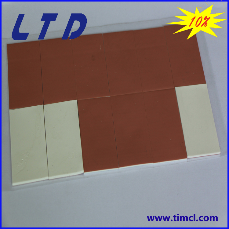 thermal pad with one side cover silicone cloth PCB use cooling pad stop piercing can be adhesive