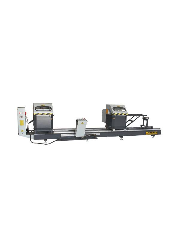 Double head precision cutting saw for aluminum door and window