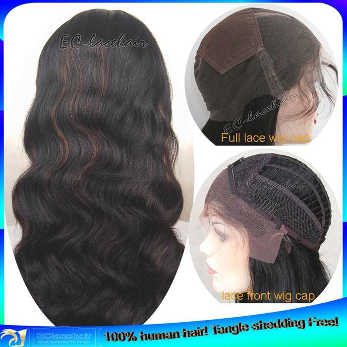 Wholesale Indian Remy Hair Body Wave Full Lace And Lace Front Wig,Factory Price