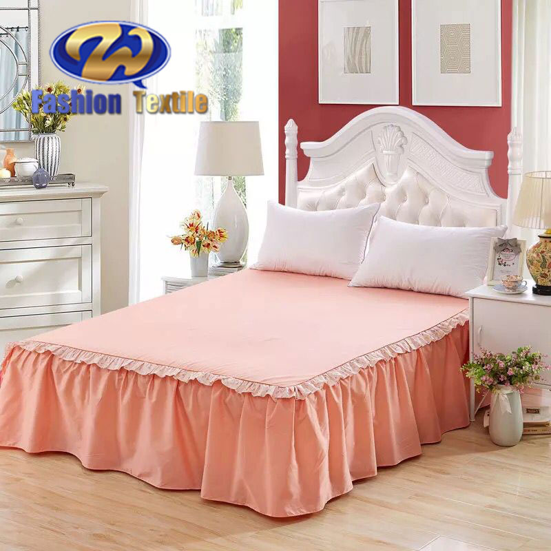 Unique queen size 18 inch drop orange bed skirts