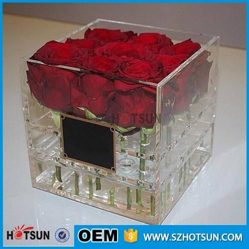 clear acrylic flower box