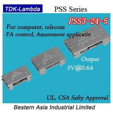 PSS3-24-5 (Lambda) 3W 5V On-board type DC-DC Converters