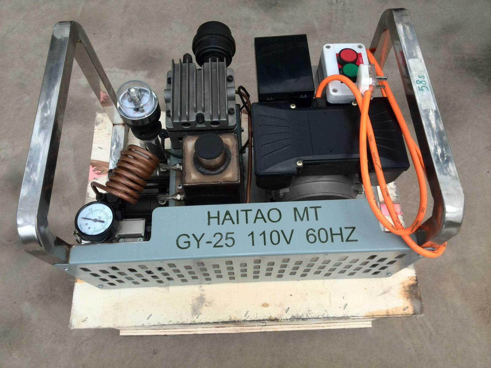 GYZ25-220V High Pressure Air Compressor