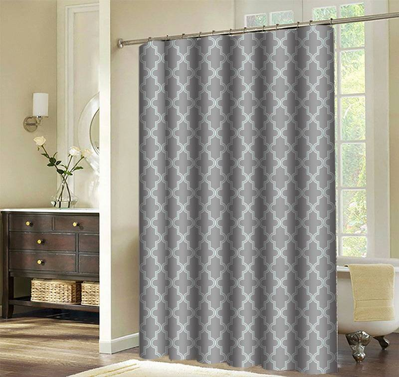 New pattern digital printing shower curtain