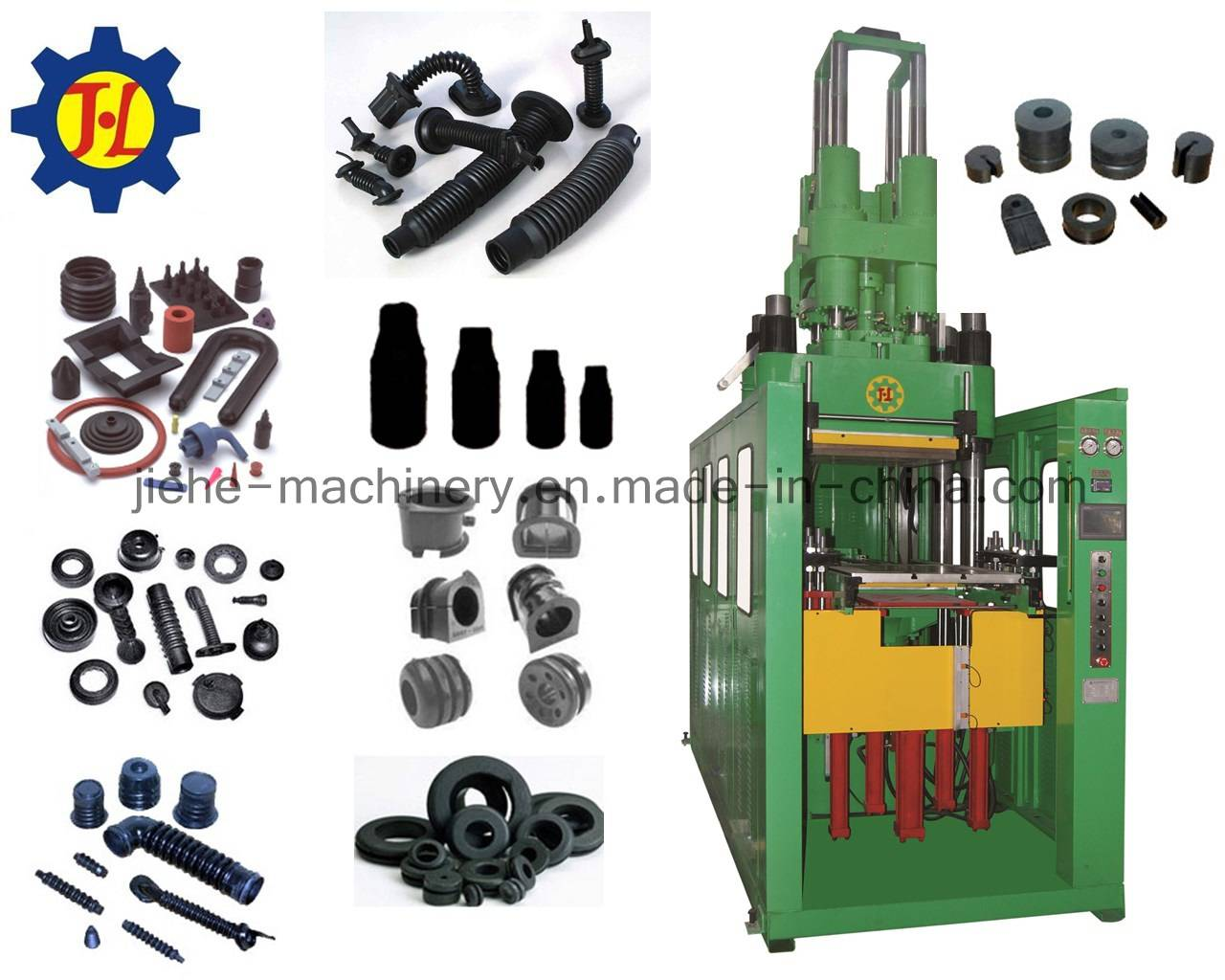 vertical type rubber bellow injection molding machine