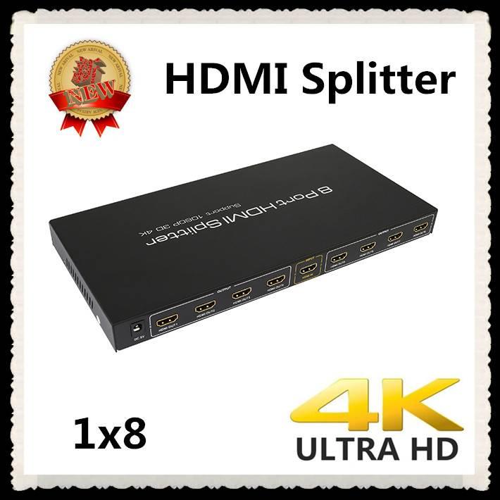 8 port HDMI Splitter amplifier Full 3D HDCP1.3 HDMI1.4V 4Kx2K