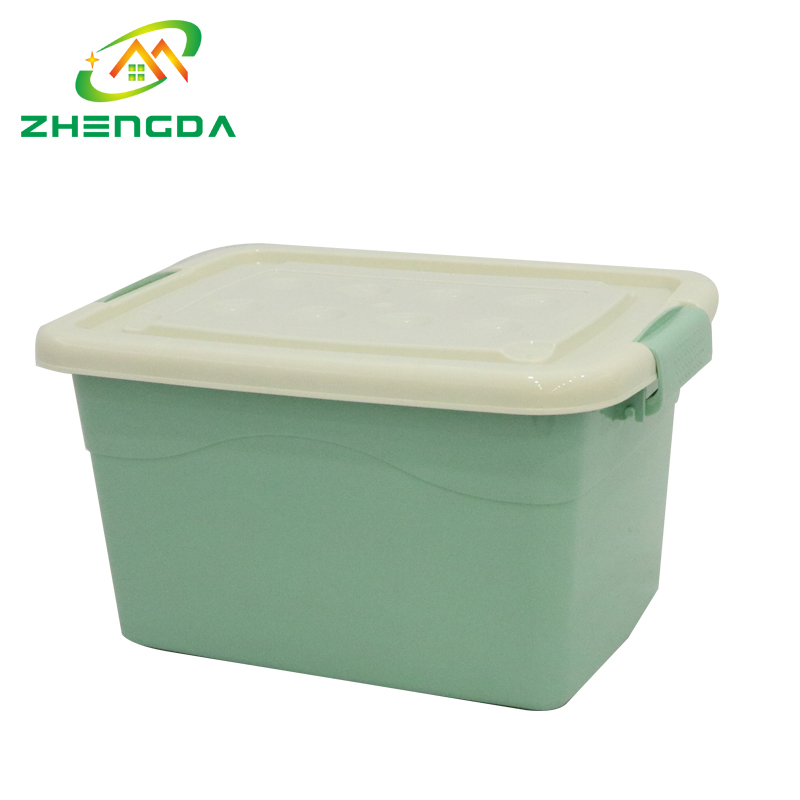 tool plastic pp material storage box with handle wheels
