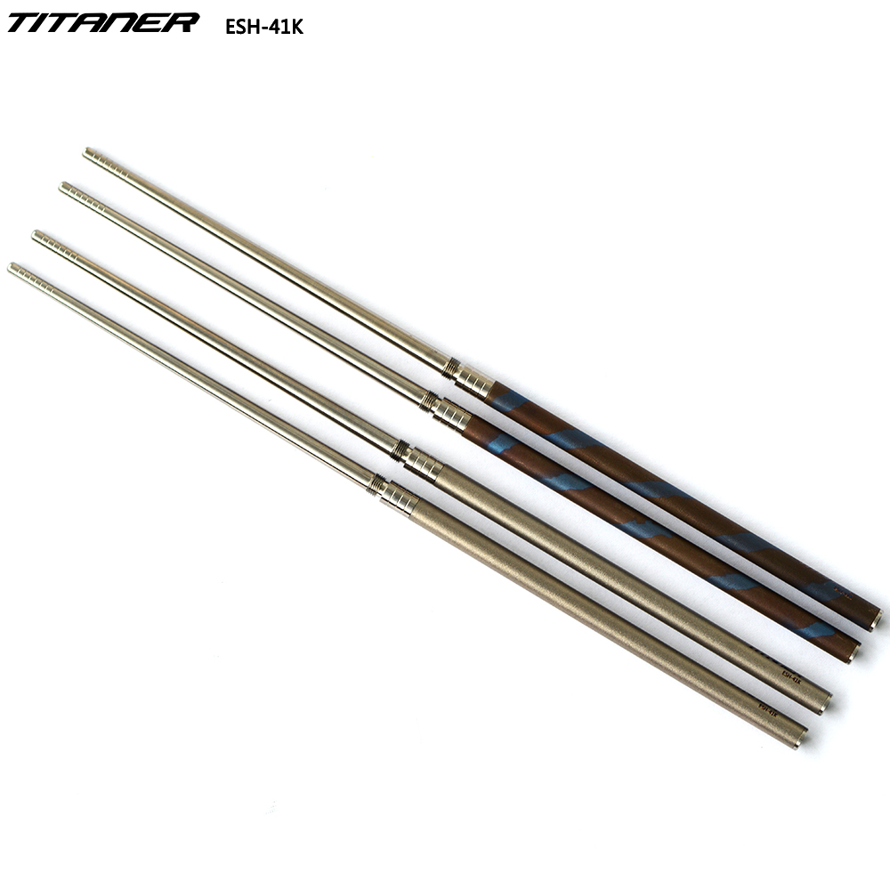 Super Strong Outdoor Lightweight Professional Titanium Chopsticks With Storage Bag Gift