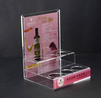 Acrylic display menu holder