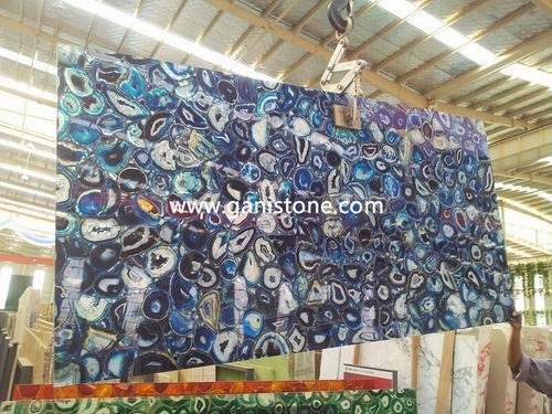 Natural Blue Agate Stone Slab