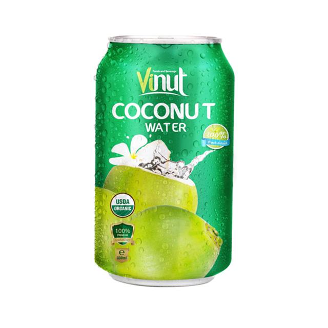 330ml Organic Coconut water Can (USDA Organic, EU Organic)