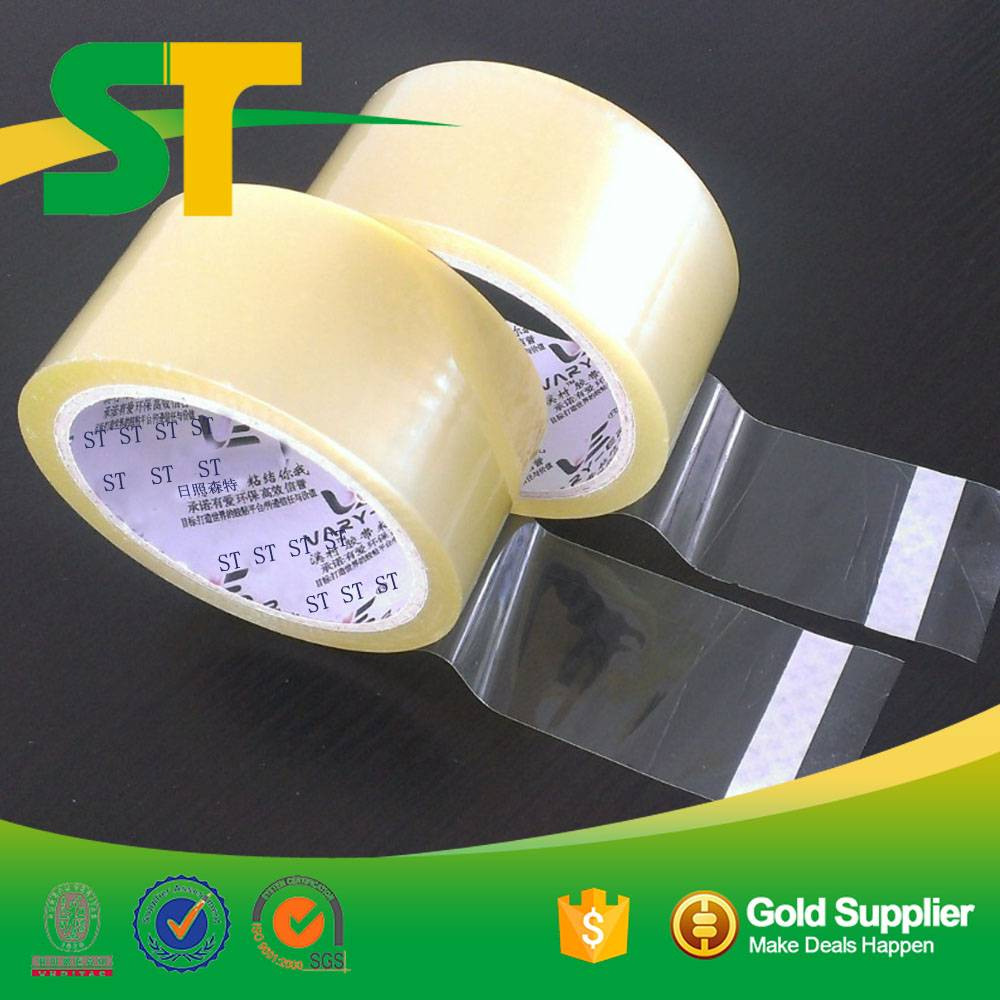 transparent clear crystal bopp packing adhesive tape