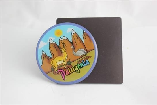 Round Memo Sticker PVC rubber sticker Fridge Magnet