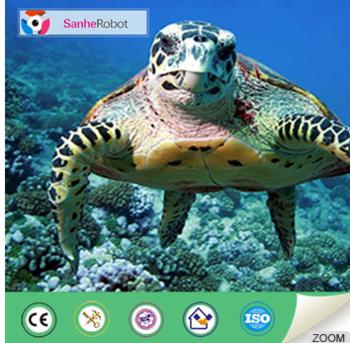 Lifelike water park sea animal model animatronic turtle