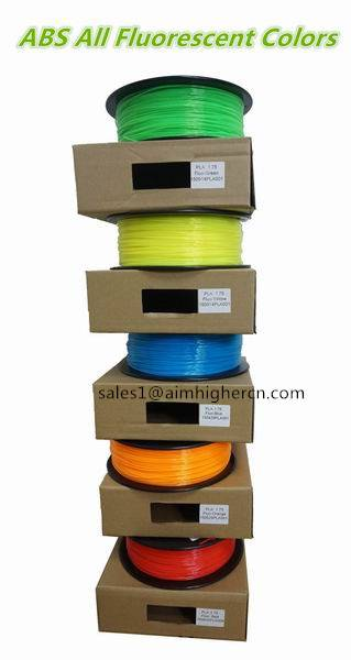 PLA ABS Fluorescent color filament 1.75mm 3.0mm 0.5kg/1kg/5kg