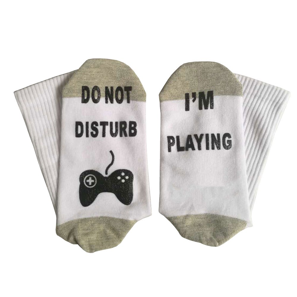 Do Not Disturb I'm Playing Funny Ankle Socks, Novelty Cotton Socks for Men Boys Kids Youth