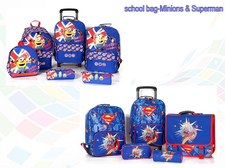 2017 New School Backpack &Trolley Bag &Pencil Bag