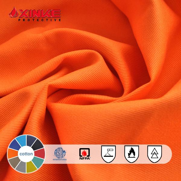 arc Flash Proban fire retardant cotton 12oz denim fabric supplier