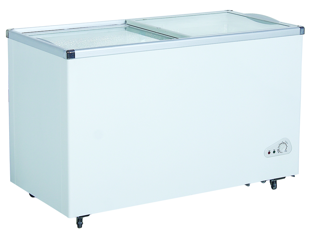 100L to 369L Glass Door Chest Freezers Flat Door and Curved Door availiable