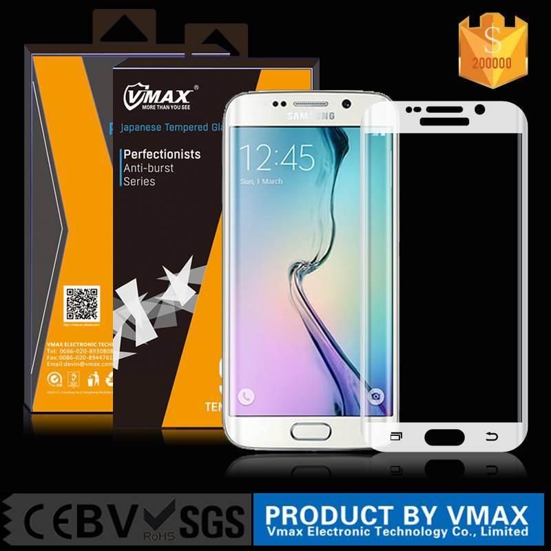 New product ! For samsung Galaxy s6 edge full cover tempered glass screen protector 0.33mm 9H
