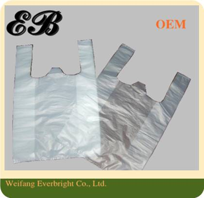 Transparent High Quality T-shirt Bag,Packing Bag, PE shopping Bag, Vest Bag