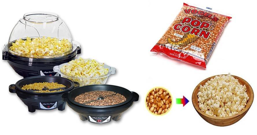 Pop corn maker.