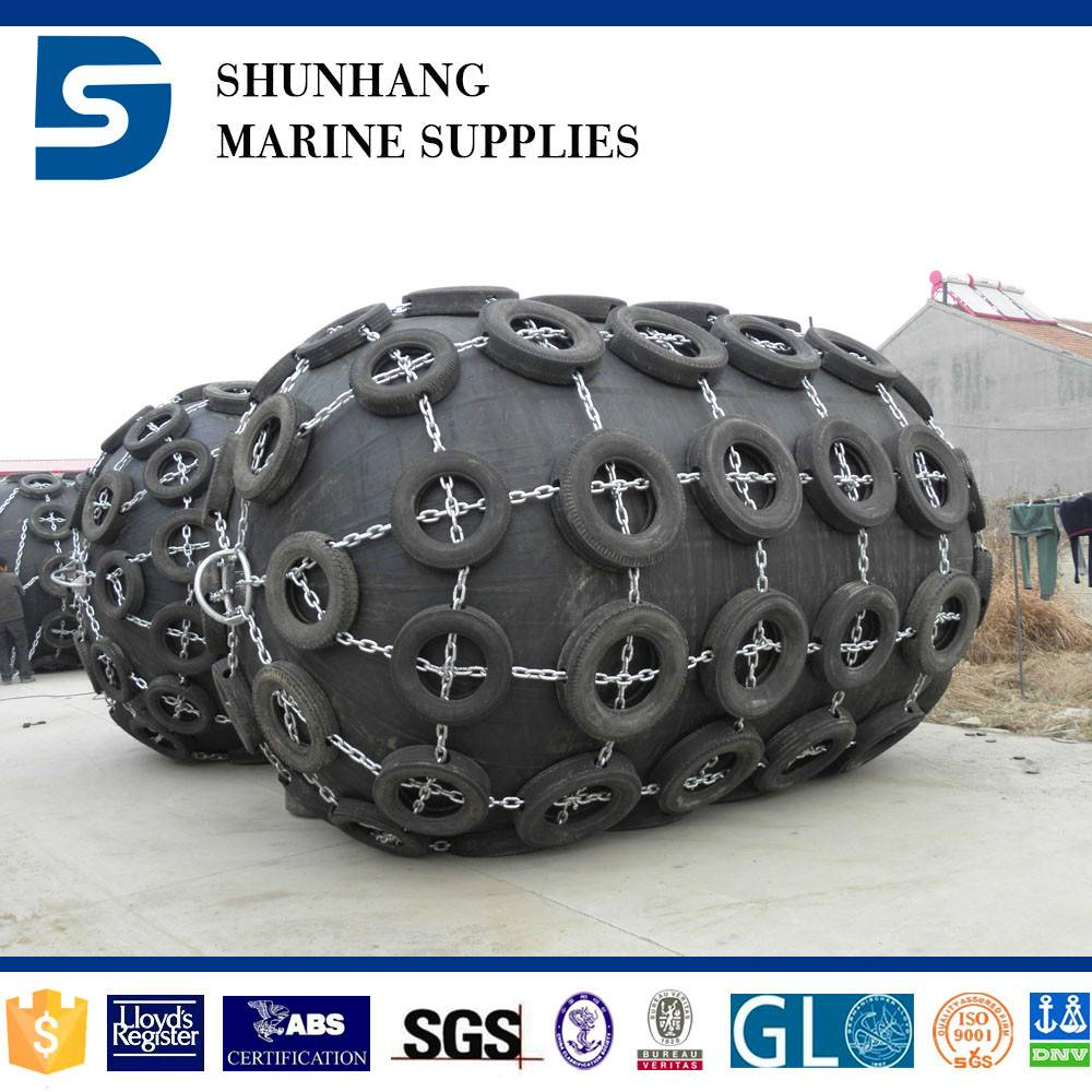 Fishing Boat Rubber Fender with Chain and Tyre net